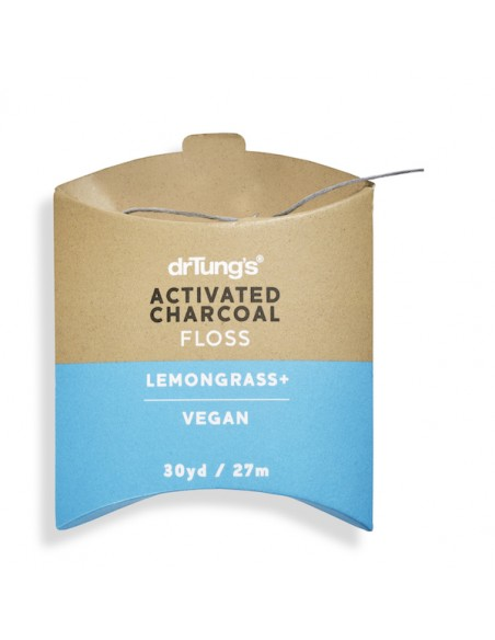 DrTung's Activated Charcoal Floss Open