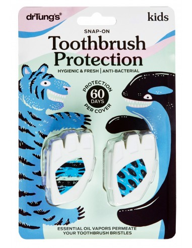 Kids' Snap-On Toothbrush Protection Twin Pack